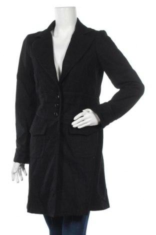 Дамско палто Forever, Размер L, Цвят Черен, 50% полиестер, 40% акрил, 10% вълна, Цена 16,38лв.