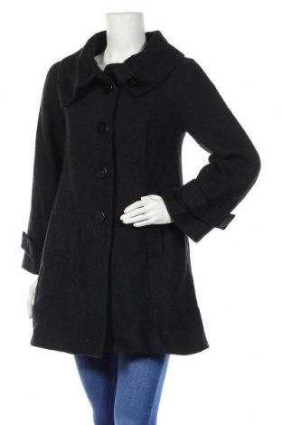 Дамско палто H&M, Размер S, Цвят Черен, 60% вълна, 40% вискоза, Цена 12,56лв.
