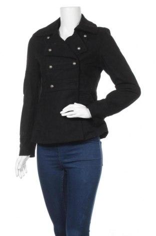 Дамско палто H&M, Размер S, Цвят Черен, 60% вълна, 40% вискоза, Цена 44,10лв.