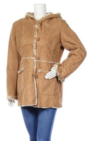 Дамско палто Jones New York, Размер L, Цвят Бежов, Полиестер, Цена 21,53лв.