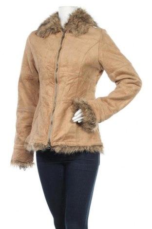 Γυναικείο παλτό KappAhl, Μέγεθος XS, Χρώμα  Μπέζ, Πολυεστέρας, Τιμή 14,56€