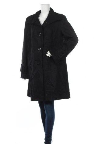 Дамско палто Laura, Размер L, Цвят Черен, 60% вълна, 25% полиестер, 10% вискоза, 5% други нишки, Цена 57,86лв.