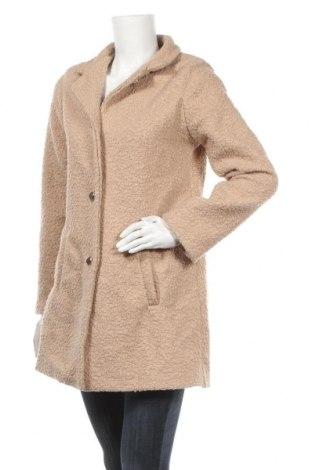 Дамско палто Made In Italy, Размер M, Цвят Бежов, Цена 56,70лв.