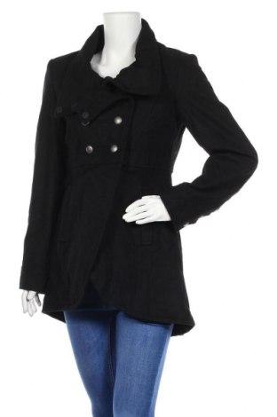 Дамско палто Minimum, Размер S, Цвят Черен, 60% вълна, 40% полиестер, Цена 52,82лв.