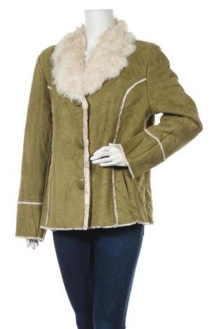 Дамско палто Novelti, Размер XL, Цвят Зелен, Полиестер, Цена 17,01лв.