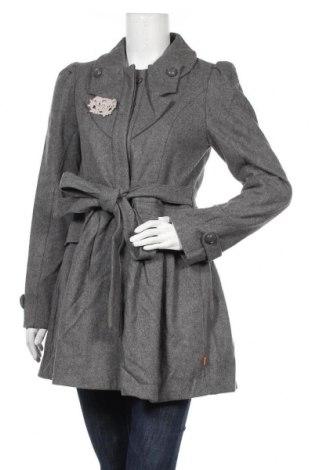 Дамско палто Object, Размер S, Цвят Сив, 60% вълна, 40% полиестер, Цена 16,28лв.