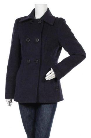 Дамско палто S.Oliver, Размер M, Цвят Син, 65% вълна, 35% полиамид, Цена 27,72лв.