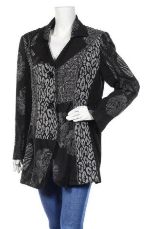 Γυναικείο παλτό Samoon By Gerry Weber, Μέγεθος XL, Χρώμα Μαύρο, 70% βισκόζη, 26% πολυαμίδη, 4% ελαστάνη, Τιμή 21,83€