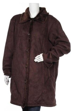 Дамско палто Sasson, Размер XL, Цвят Кафяв, 50% полиестер, 50% акрил, Цена 16,80лв.