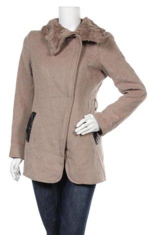 Дамско палто Setre, Размер L, Цвят Кафяв, 45% полиестер, 55% вълна, еко кожа, Цена 44,89лв.