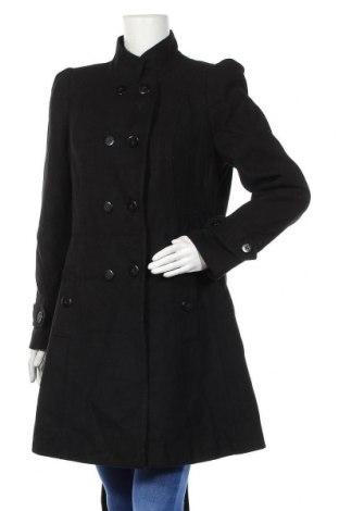 Γυναικείο παλτό South, Μέγεθος L, Χρώμα Μαύρο, 88% πολυεστέρας, 10% βισκόζη, 2% ελαστάνη, Τιμή 33,32€