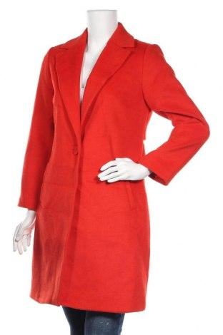 Дамско палто Top Secret, Размер S, Цвят Червен, 80% полиестер, 20% вълна, Цена 32,55лв.