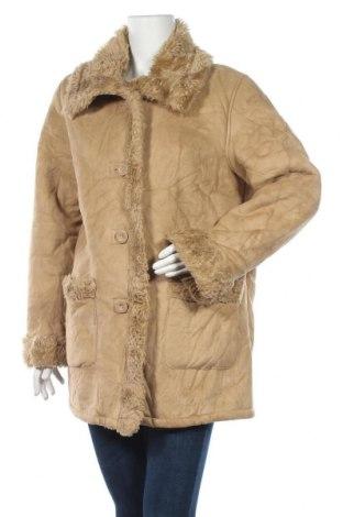 Дамско палто Trojani, Размер L, Цвят Бежов, Полиестер, Цена 12,08лв.