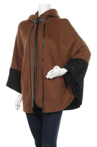 Дамско палто Zara, Размер M, Цвят Кафяв, 70% вълна, 30% полиестер, Цена 51,87лв.