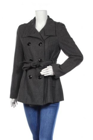 Дамско палто Zero, Размер M, Цвят Сив, 60% вълна, 40% полиестер, Цена 14,70лв.