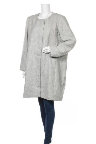 Γυναικείο παλτό Zizzi, Μέγεθος XXL, Χρώμα Γκρί, 85% πολυεστέρας, 15% βαμβάκι, Τιμή 41,89€