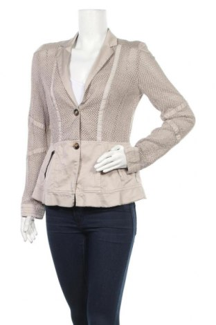 Дамско сако Marc Cain, Размер M, Цвят Сив, 54% памук, 43% лиосел, 3% еластан, Цена 78,40лв.