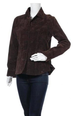 Дамско яке, Размер M, Цвят Кафяв, Естествен велур, Цена 17,85лв.