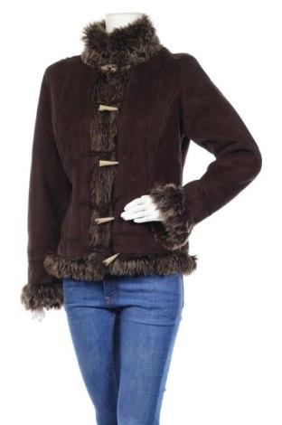 Дамско палто Authentic Clothing Company, Размер M, Цвят Кафяв, 50% полиестер, 50% полиакрил, Цена 14,70лв.