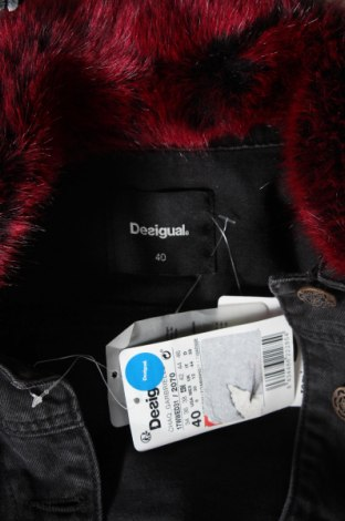Дамско яке Desigual, Размер M, Цвят Сив, 72% памук, 28% полиестер, Цена 144,00лв.
