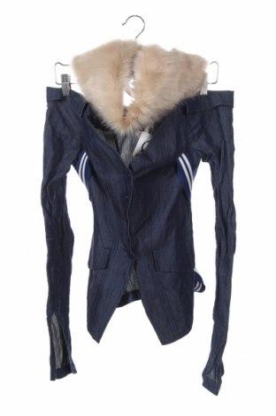 Γυναικείο μπουφάν Dondup, Μέγεθος M, Χρώμα Μπλέ, 91% βαμβάκι, 9% μεταλλικά νήματα, Τιμή 73,43€