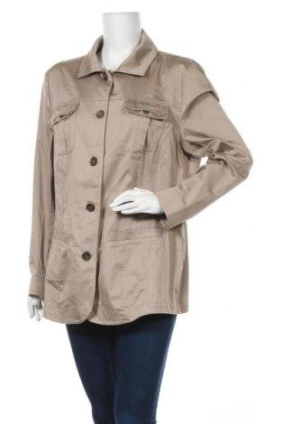 Γυναικείο μπουφάν Ulla Popken, Μέγεθος 3XL, Χρώμα  Μπέζ, 98% βαμβάκι, 2% ελαστάνη, Τιμή 19,74€