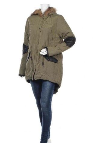Γυναικείο μπουφάν Yes Or No, Μέγεθος L, Χρώμα Πράσινο, 40% βαμβάκι, 60% πολυεστέρας, Τιμή 42,22€