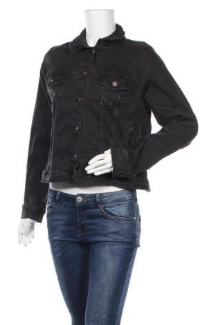 Γυναικείο μπουφάν Zizzi, Μέγεθος L, Χρώμα Γκρί, 98% βαμβάκι, 2% ελαστάνη, Τιμή 27,69€