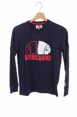 Παιδική μπλούζα Americanino, Μέγεθος 11-12y/ 152-158 εκ., Χρώμα Μπλέ, 95% βαμβάκι, 5% ελαστάνη, Τιμή 10,38€