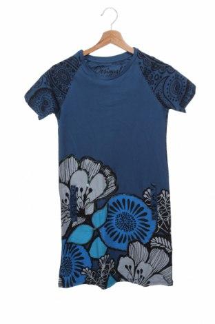 Παιδικό φόρεμα Desigual, Μέγεθος 13-14y/ 164-168 εκ., Χρώμα Μπλέ, Βαμβάκι, Τιμή 19,56€