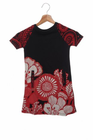 Παιδικό φόρεμα Desigual, Μέγεθος 5-6y/ 116-122 εκ., Χρώμα Μαύρο, Βαμβάκι, Τιμή 17,79€