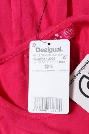 Παιδικό φόρεμα Desigual, Μέγεθος 12-13y/ 158-164 εκ., Χρώμα Ρόζ , Βαμβάκι, Τιμή 10,09€