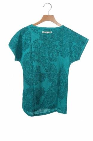 Παιδικό τουνίκ Desigual, Μέγεθος 9-10y/ 140-146 εκ., Χρώμα Πράσινο, 76% βαμβάκι, 24% βισκόζη, Τιμή 15,30€