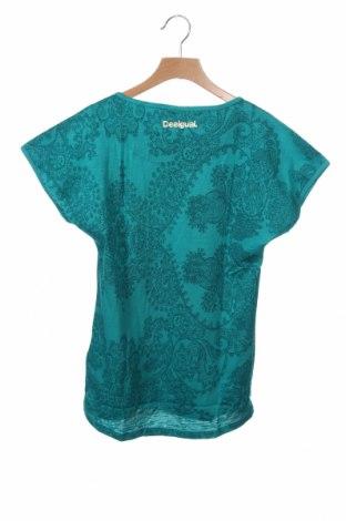 Παιδικό τουνίκ Desigual, Μέγεθος 11-12y/ 152-158 εκ., Χρώμα Πράσινο, 76% βαμβάκι, 24% βισκόζη, Τιμή 15,30€