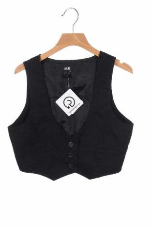 Детски елек H&M, Размер 12-13y/ 158-164 см, Цвят Черен, Памук, Цена 7,35лв.