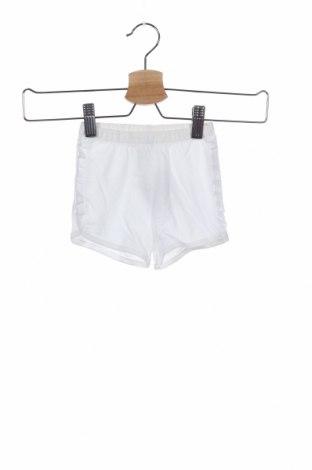 Παιδικό κοντό παντελόνι United Colors Of Benetton, Μέγεθος 3-6m/ 62-68 εκ., Χρώμα Λευκό, Βαμβάκι, Τιμή 9,07€