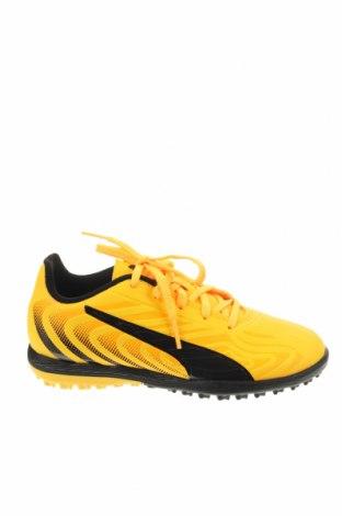 Детски обувки PUMA, Размер 32, Цвят Жълт, Еко кожа, Цена 53,40лв.