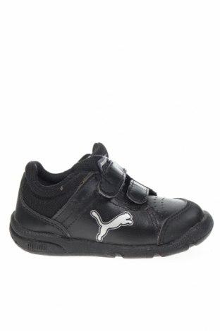 Παιδικά παπούτσια PUMA, Μέγεθος 21, Χρώμα Μαύρο, Γνήσιο δέρμα, δερματίνη, κλωστοϋφαντουργικά προϊόντα, Τιμή 35,19€