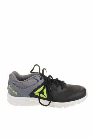 Детски обувки Reebok, Размер 35, Цвят Черен, Текстил, еко кожа, Цена 60,52лв.