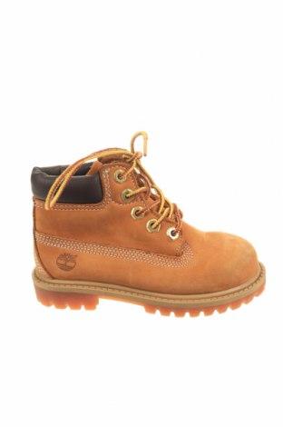 Παιδικά παπούτσια Timberland, Μέγεθος 26, Χρώμα Καφέ, Γνήσιο δέρμα, Τιμή 37,54€