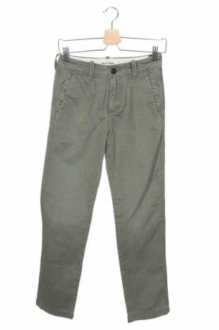Детски панталон Abercrombie Kids, Размер 11-12y/ 152-158 см, Цвят Зелен, Памук, Цена 18,69лв.