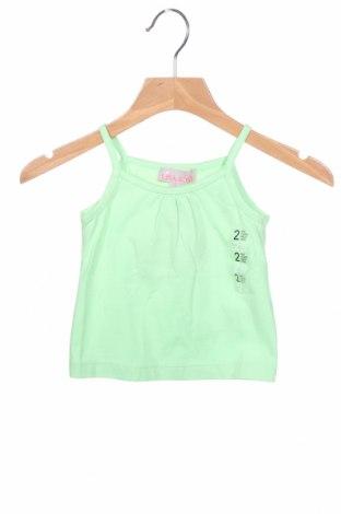 Μπλουζάκι αμάνικο παιδικό Lisa Rose, Μέγεθος 12-18m/ 80-86 εκ., Χρώμα Πράσινο, 95% βαμβάκι, 5% ελαστάνη, Τιμή 5,36€