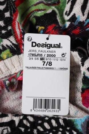 Παιδικό πουλόβερ Desigual, Μέγεθος 6-7y/ 122-128 εκ., Χρώμα Πολύχρωμο, Βαμβάκι, Τιμή 11,23€