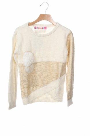 Παιδικό πουλόβερ Desigual, Μέγεθος 4-5y/ 110-116 εκ., Χρώμα Χρυσαφί, Βαμβάκι, Τιμή 34,41€