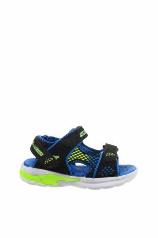 Детски сандали Skechers, Размер 25, Цвят Син, Текстил, Цена 31,28лв.