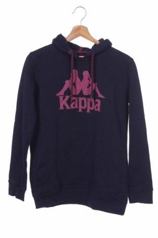 Παιδικό φούτερ Kappa, Μέγεθος 12-13y/ 158-164 εκ., Χρώμα Μπλέ, 80% βαμβάκι, 20% πολυεστέρας, Τιμή 10,23€