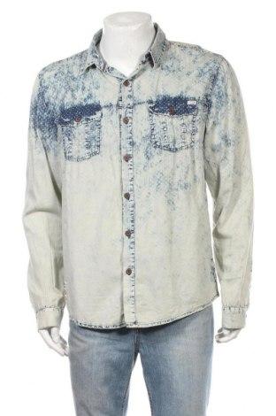 Ανδρικό πουκάμισο Driver, Μέγεθος XL, Χρώμα Μπλέ, 70% βαμβάκι, 30% πολυεστέρας, Τιμή 11,59€