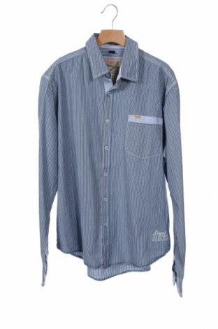 Ανδρικό πουκάμισο Gin Tonic, Μέγεθος M, Χρώμα Μπλέ, Βαμβάκι, Τιμή 4,42€