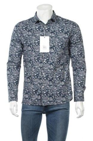 Ανδρικό πουκάμισο Knowledge Cotton Apparel, Μέγεθος M, Χρώμα Μπλέ, Βαμβάκι, Τιμή 21,60€