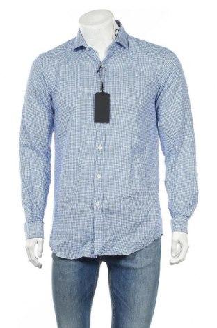 Мъжка риза Liu Jo, Размер M, Цвят Син, 55% лен, 45% памук, Цена 37,24лв.